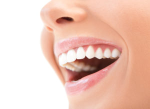 young woman's smile laughing